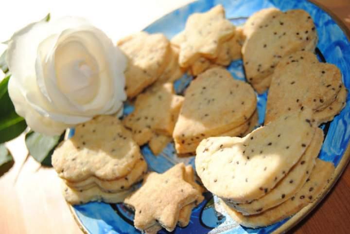Sezamowe ciasteczka; ciasteczka z sezamem