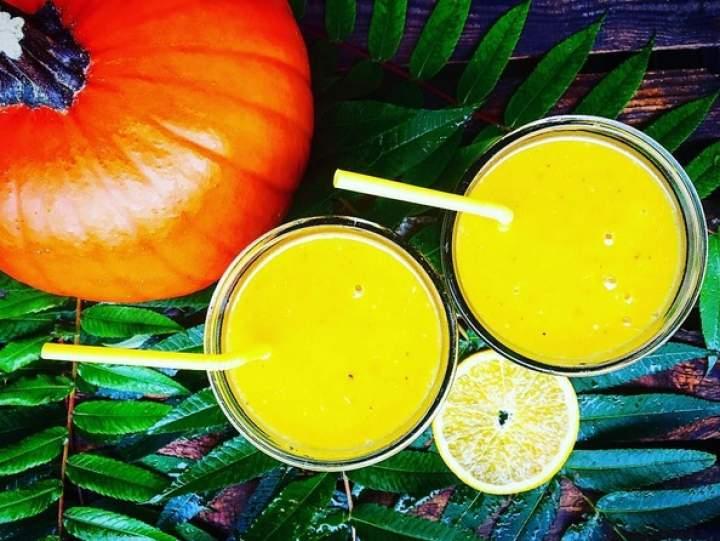 dynia + banan + pomarańcza + imbir + kardamon + ziele angielskie