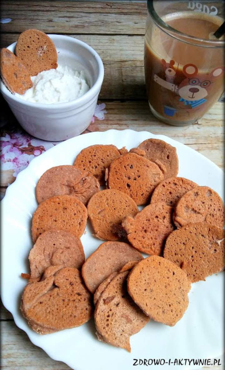 Kakaowe mini placuszki-oszukane ciastka