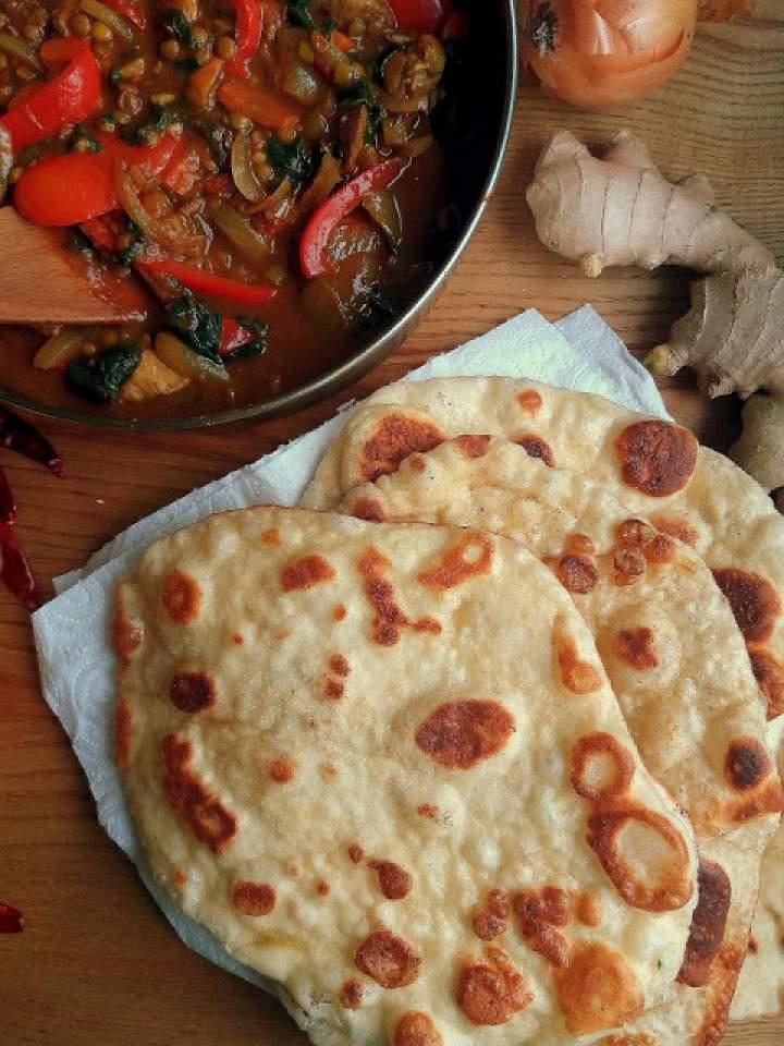 Chlebek Naan / Homemade Naan Bread