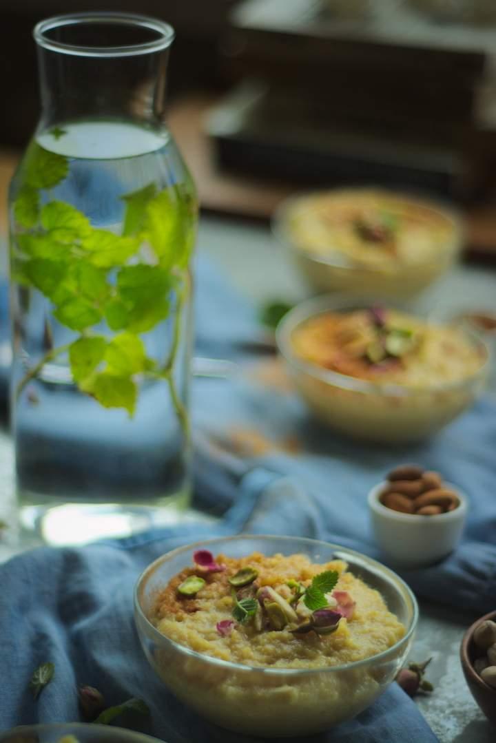 Szafranowy pudding ryżowy po persku – Shole Zard