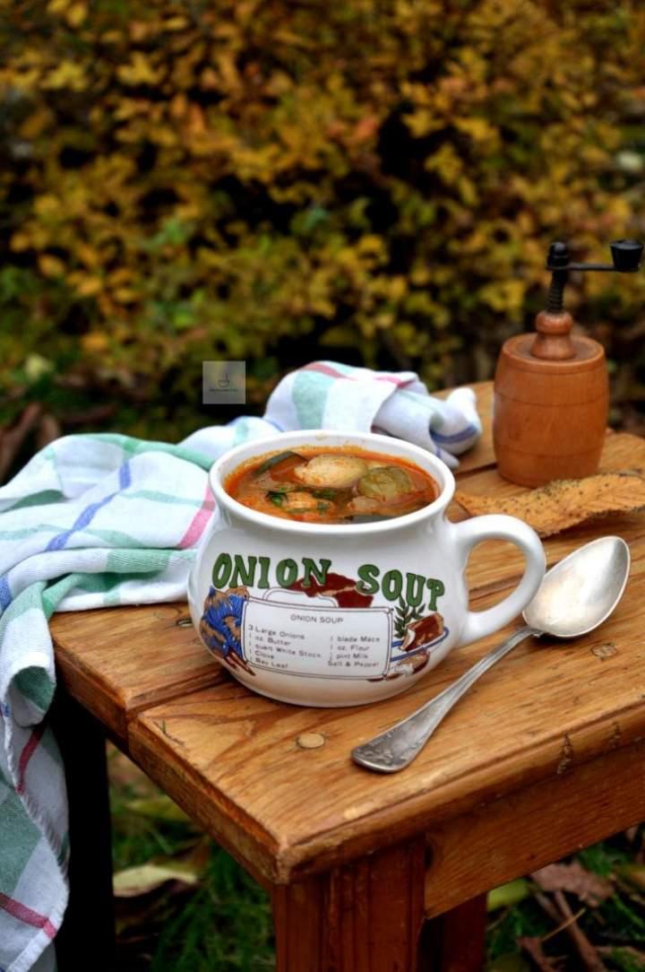 Jesienna zupa z brukselką