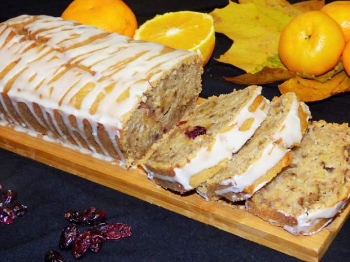 Ciasto dyniowe z żurawiną, orzechami i pomarańczą (wegańskie)
