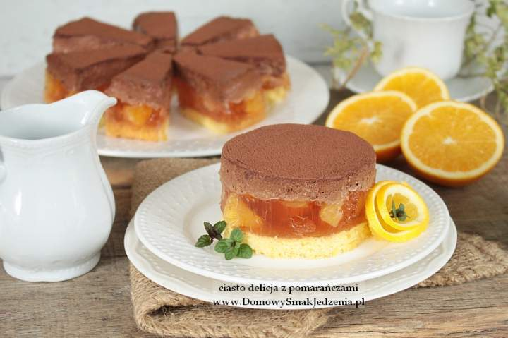 ciasto delicja z pomarańczami