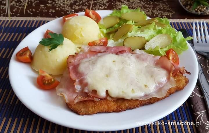 Schab z szynką szwardzwaldzką i mozzarellą