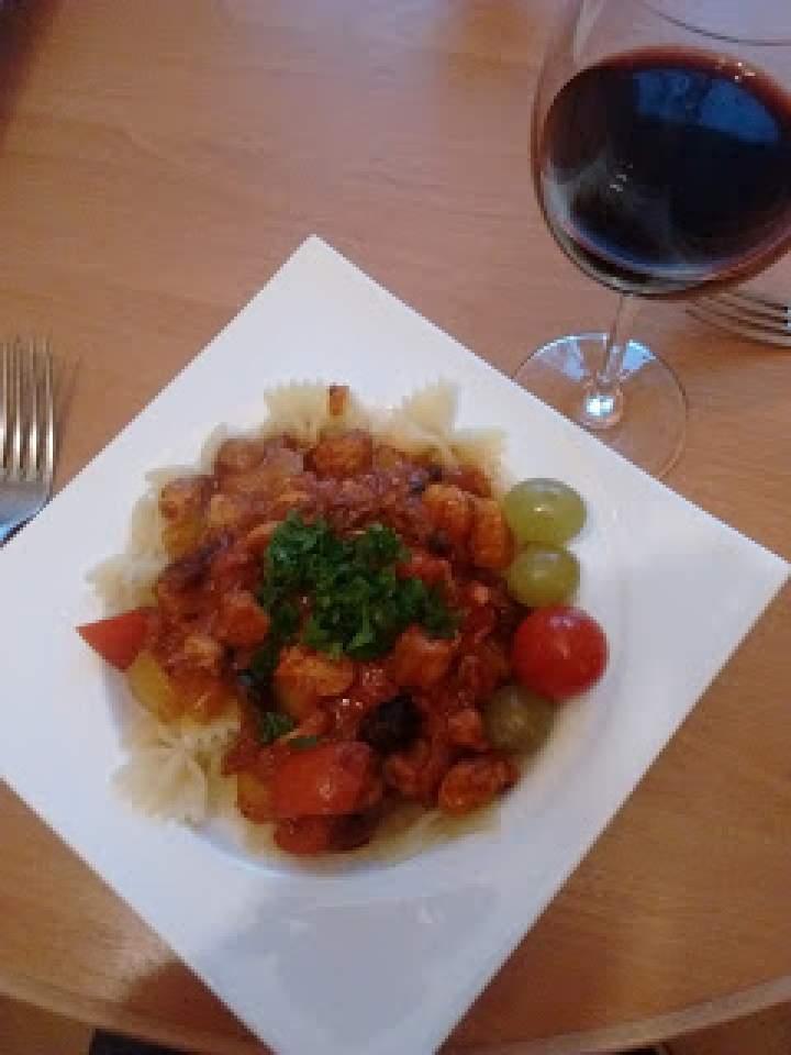 Makaron spaghetti z pestkami dyni