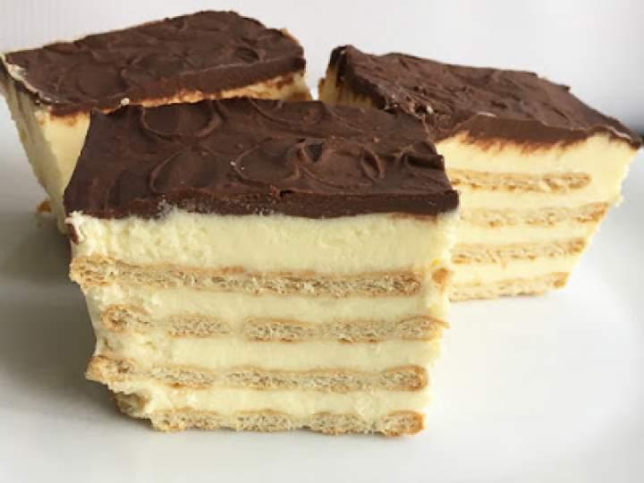 Ciasto z krakersami bez pieczenia