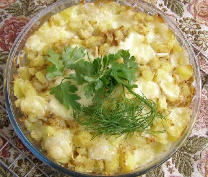 z poprzedniego dnia ziemniaki z mozzarellą…