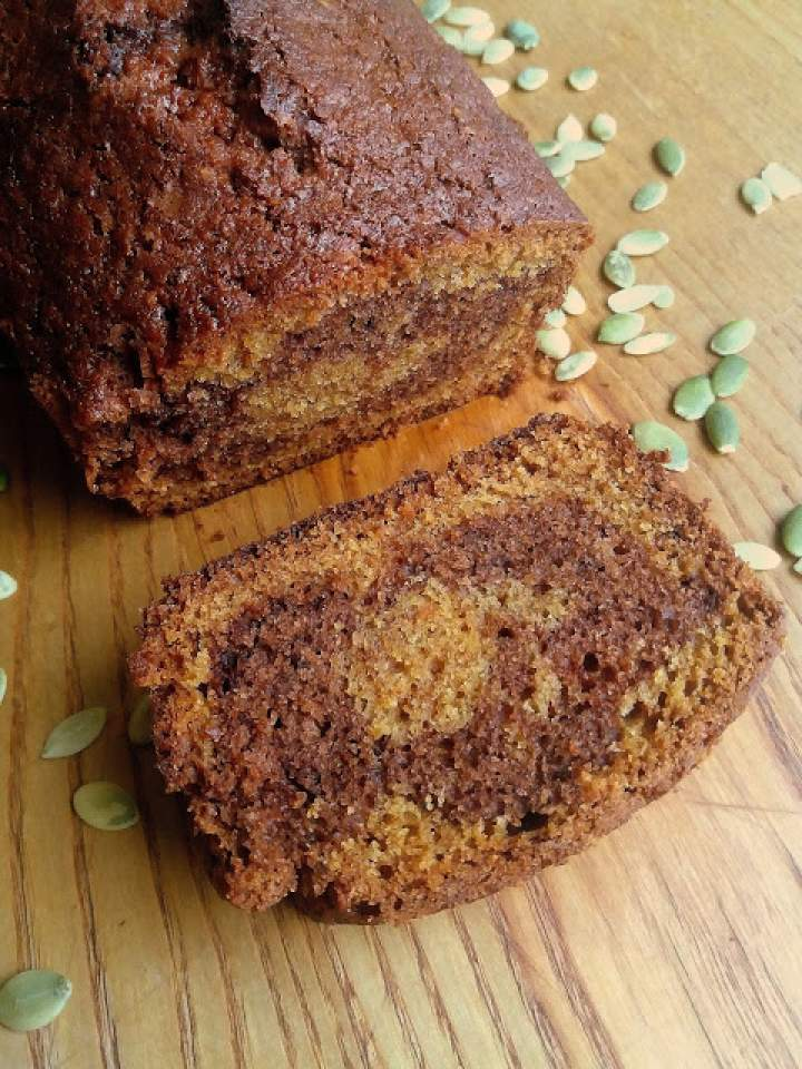 Ciasto dyniowe z kakao / Pumpkin Chocolate Swirl Bread