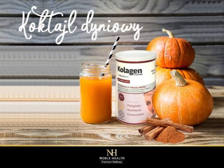 dynia + banan + sok jabłkowy + cynamon + kolagen + witamina C