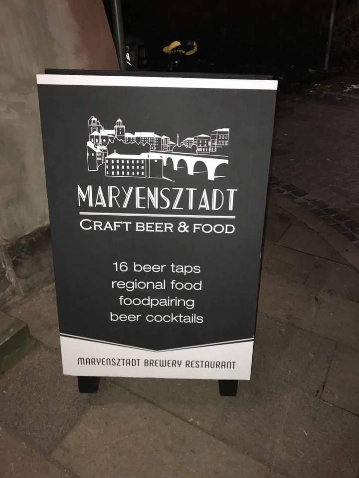Maryensztadt craft beer & food