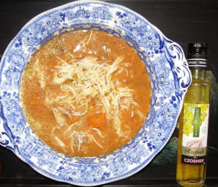 szybka pomidorowa zupa z olejem rzepakowym czosnek…