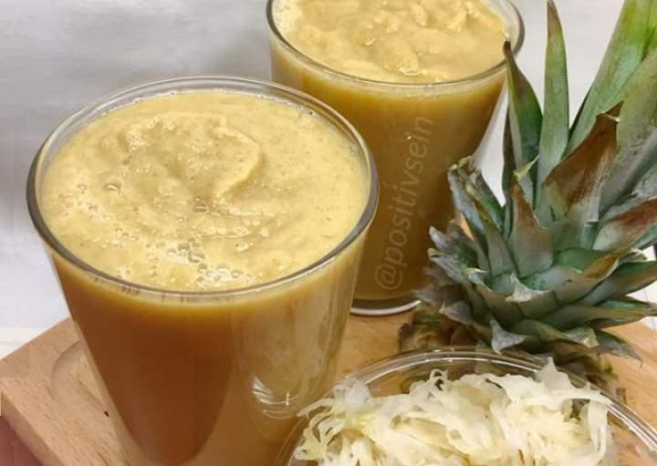 kapusta kiszona + ananas + orkisz + figi + seler naciowy + cynamon + miód