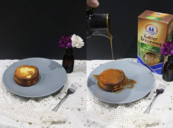 Pudding dyniowy z sosem karmelowym