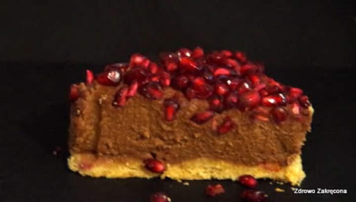 Wegańska bezglutenowa tarta z czekoladowym kremem budyniowo-jaglanym