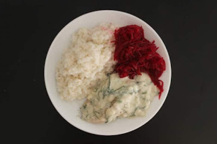 Schab w sosie śmietanowo-koperkowym