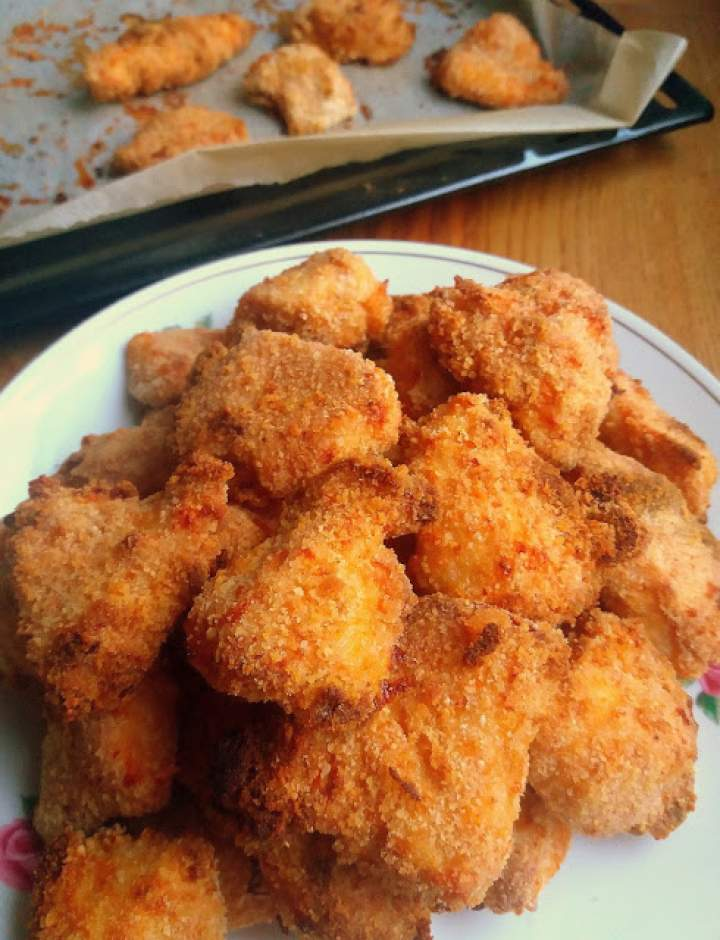 Pieczone nuggetsy Jamiego Olivera / Jamie's Baked Chicken Nuggets