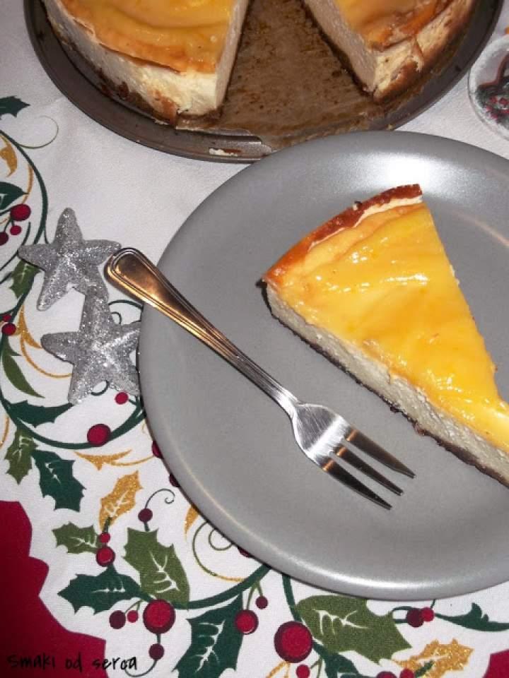 Sernik z lemon curd na piernikowym spodzie