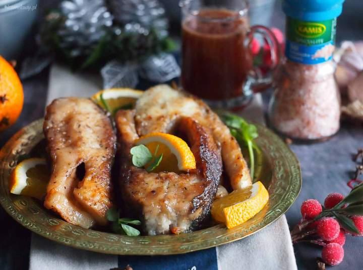 Karp w sosie miodowo-pomarańczowym / Carp with honey orange sauce