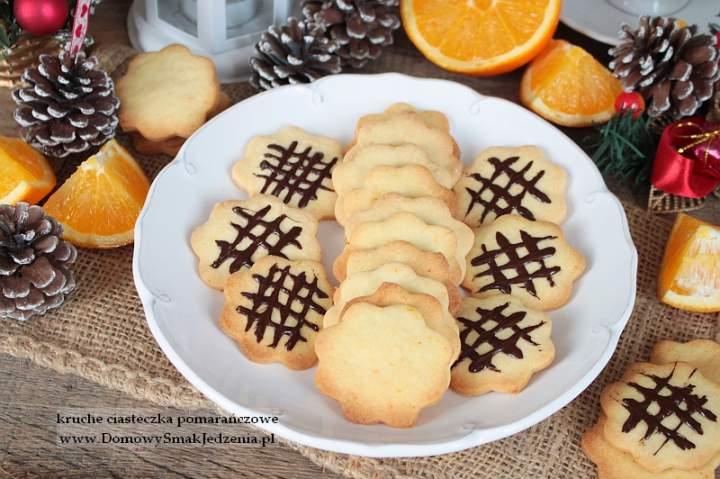 kruche ciasteczka pomarańczowe