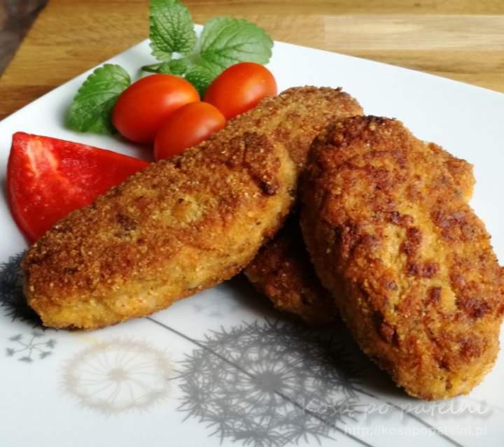 Kotlety mielone z kurczaka z kapustą i grzybami