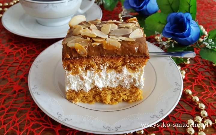 Ciasto Krówka z migdałami