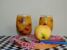 Deser jabłkowy z żurawiną