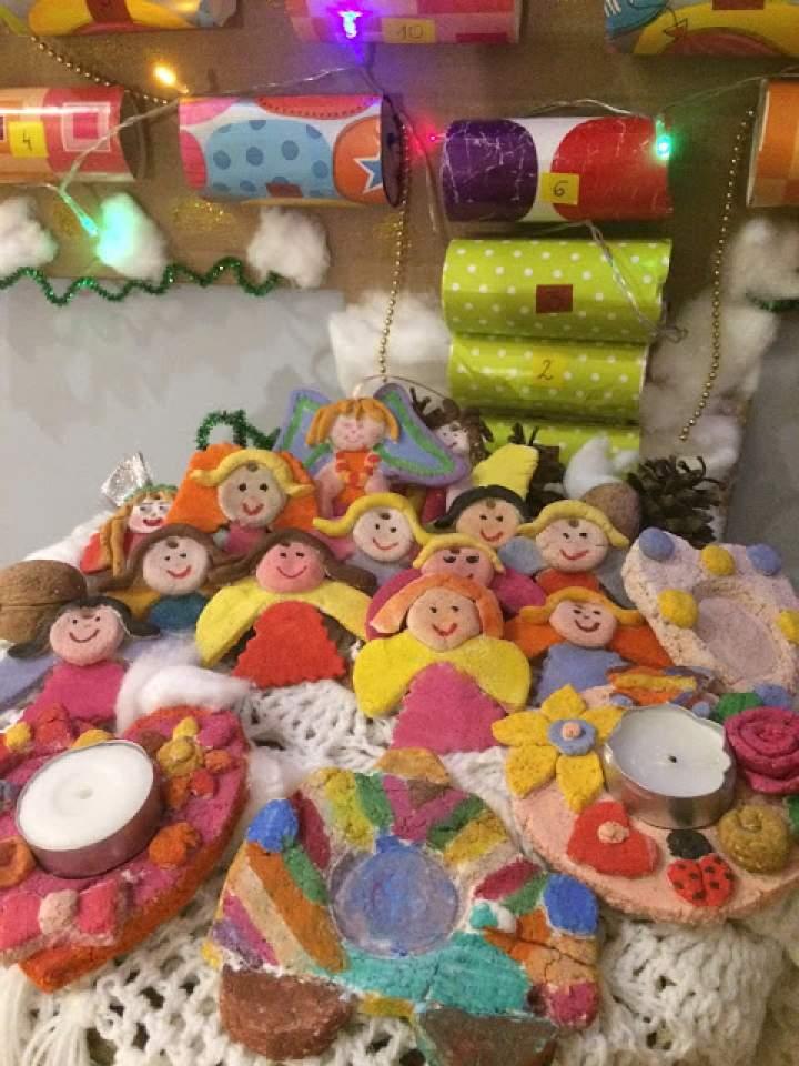 Aniołki z masy solnej – domowe ozdoby świąteczne;  DIY z dziećmi
