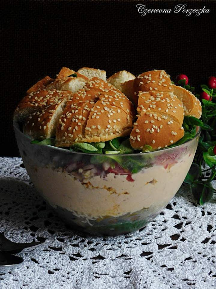 Sałatka hamburger