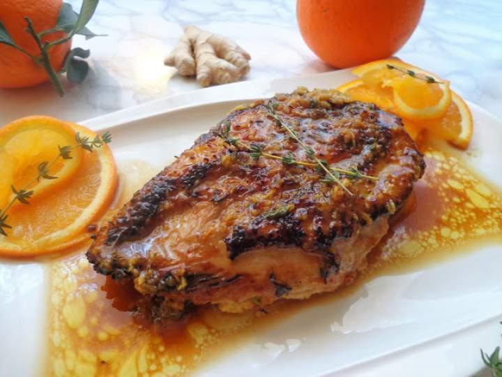 Pierś kaczki z sosem miodowo-imbirowym z pomarańczami (Petto d'anatra al zenzero, miele e arancia)