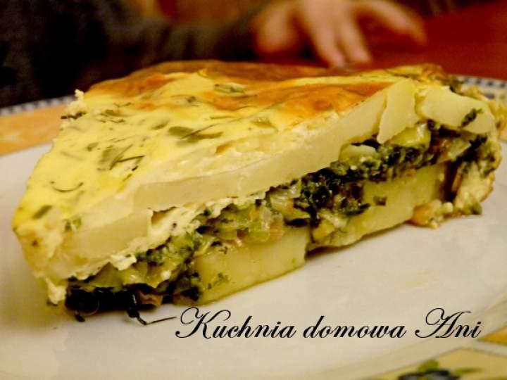 Zapiekanka ziemniaczana ze szpinakiem i serem