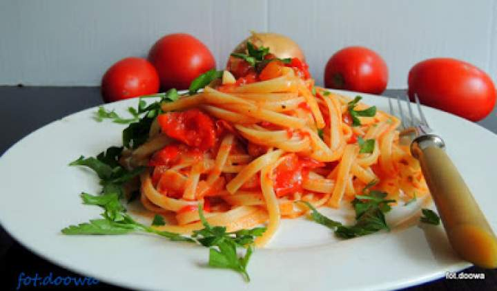Bavette w sosie pomidorowym