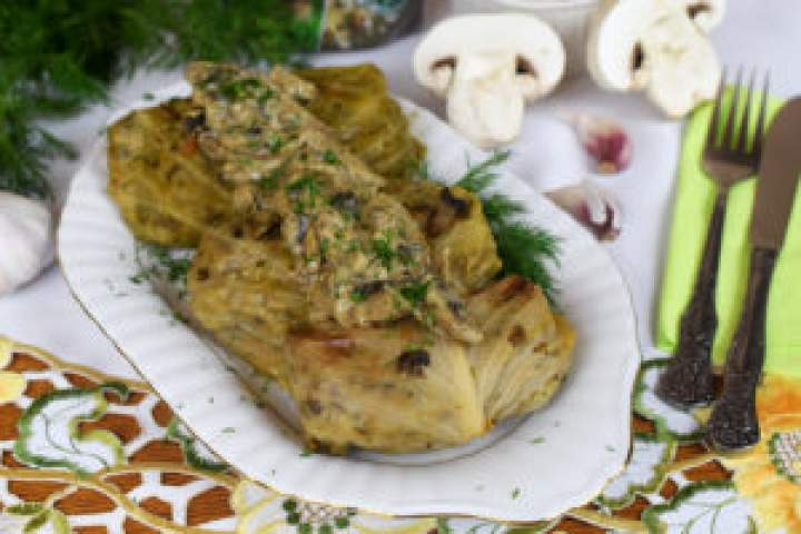 Gołąbki zgrzybowym risotto