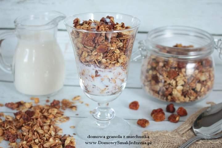 domowa granola z miechunką