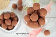 domowe trufle czekoladowe z odrobiną chili