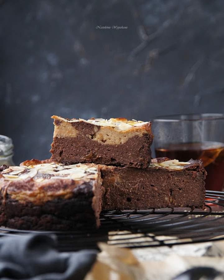 Łaciate brownie z kaszy jaglanej
