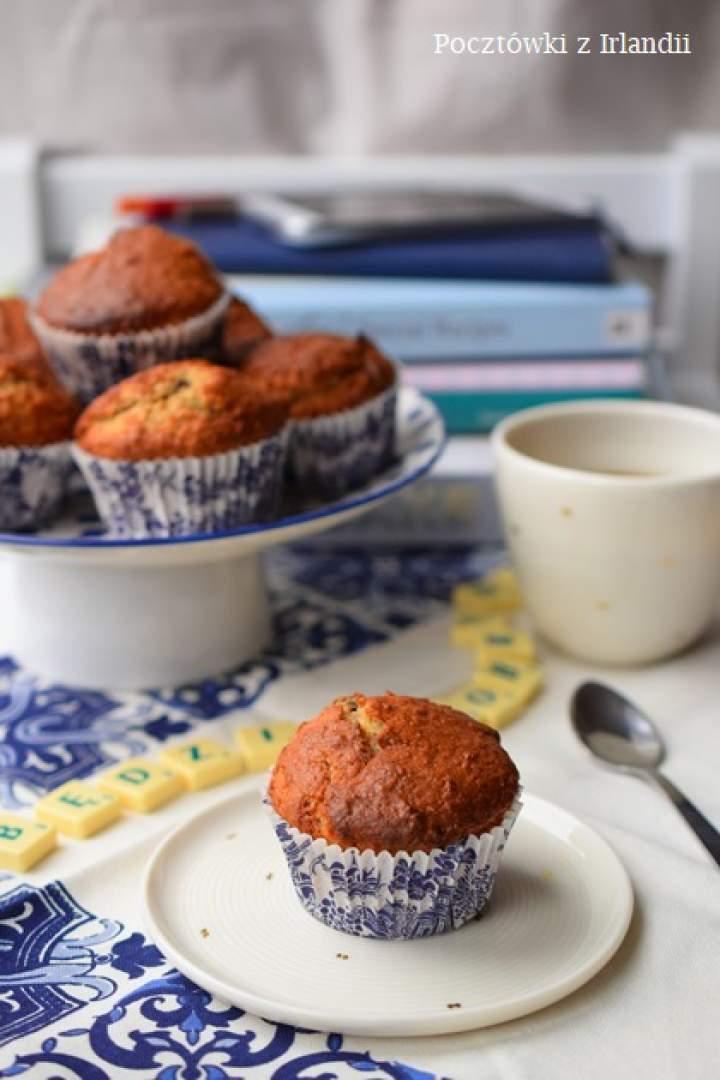 Grahamowe muffiny bananowe