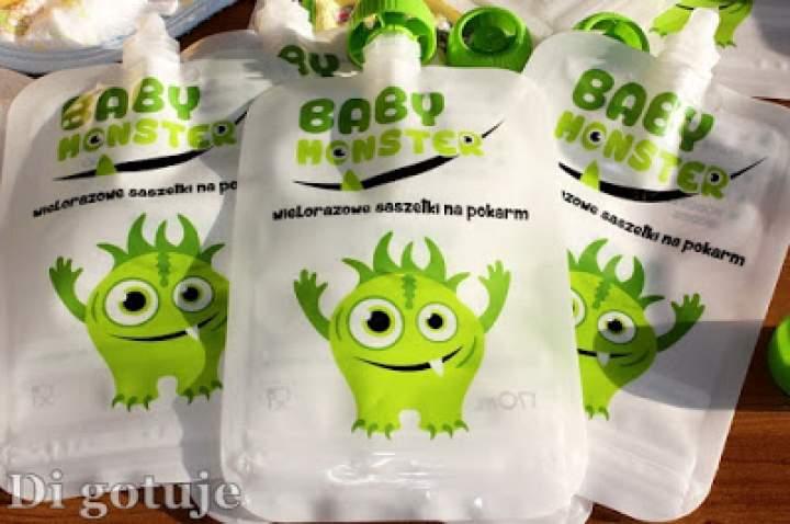 Baby Monster – wielorazowe saszetki dla pokarm dzieci – recenzja