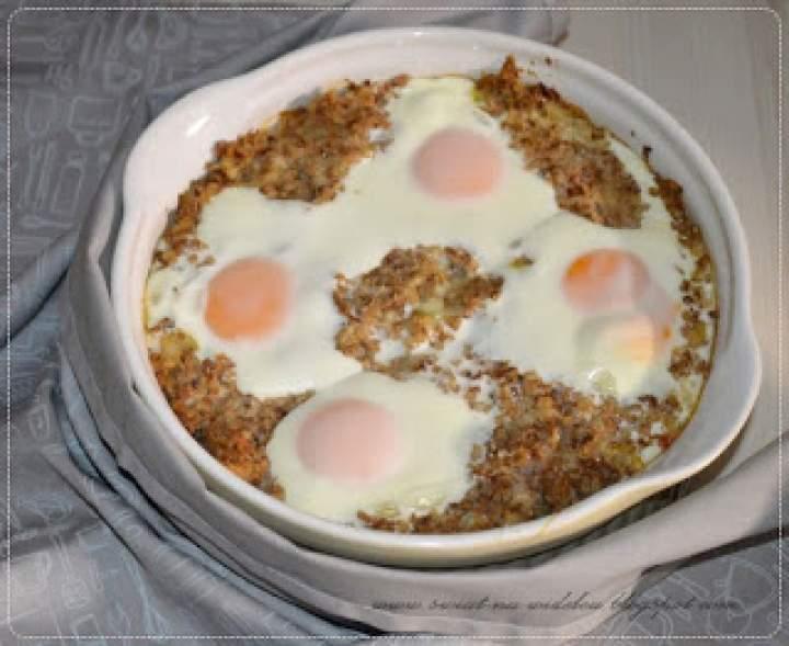 Zapiekana kasza gryczana z jajkiem