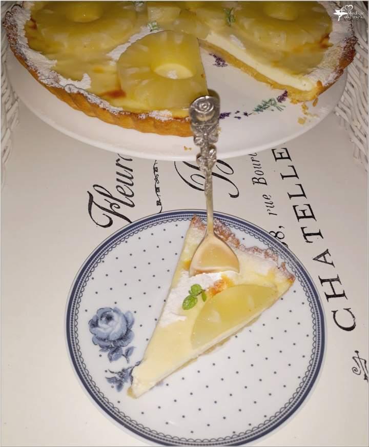Tarta z twarożkiem oberlandzkim i ananasem