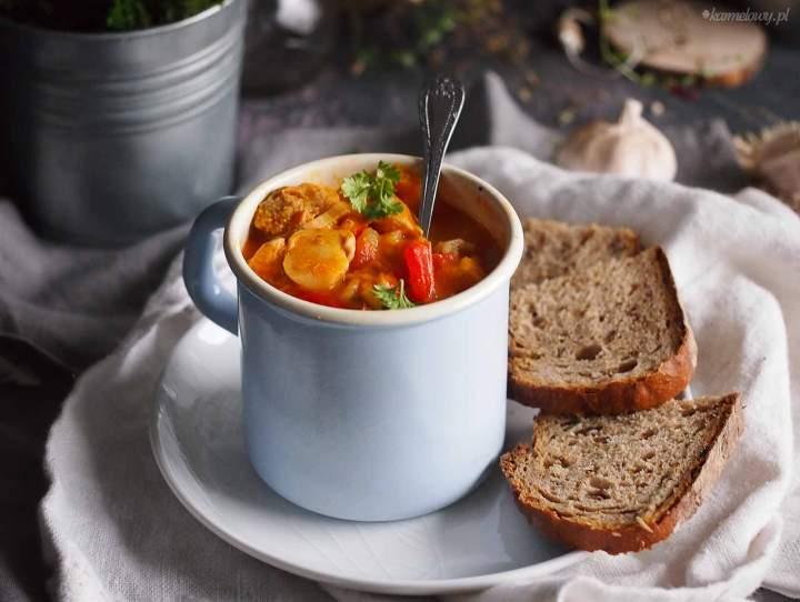 Gulasz z indykiem, dynią i papryką / Turkey, pumpkin and pepper stew