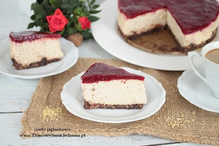 ciasto jaglankowe – bez pieczenia, bez mąki, bez jajek