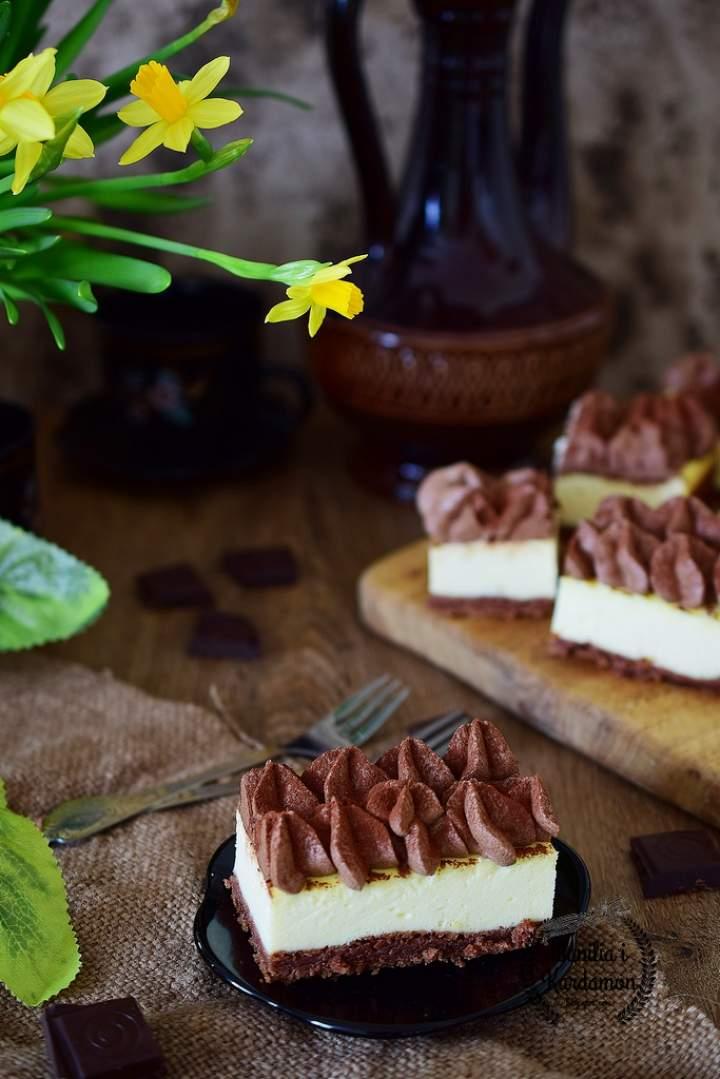 Sernik mleczno czekoladowy