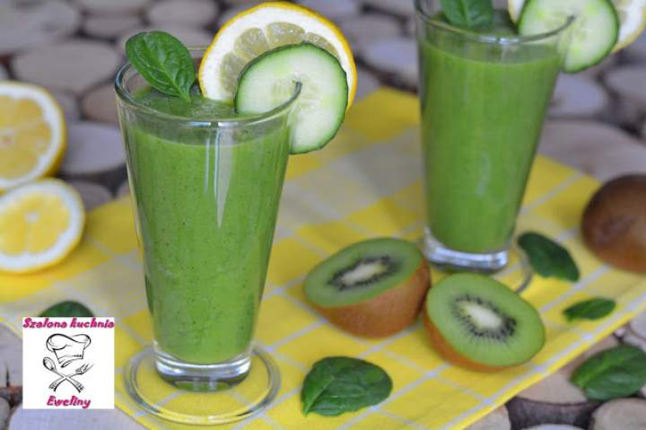 Zielony owocowo – warzywny koktajl
