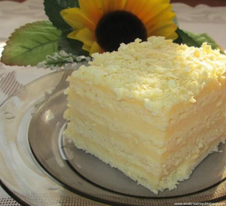 Ciasto Aniołek-śmietanowy przekładaniec