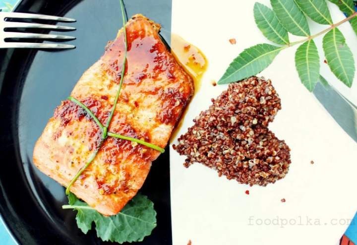 Aphrodisiac filled dinner. A Valentine's Day salmon recipe