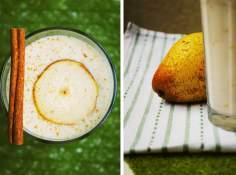 banan + gruszka + jogurt + mleko roślinne