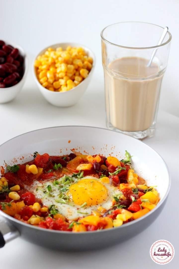 Szakszuka meksykańska czyli śniadanie na ostro