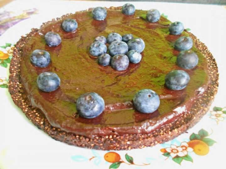 Ciasto czekoladowe na spodzie z komosy ryżowej (wegańskie)
