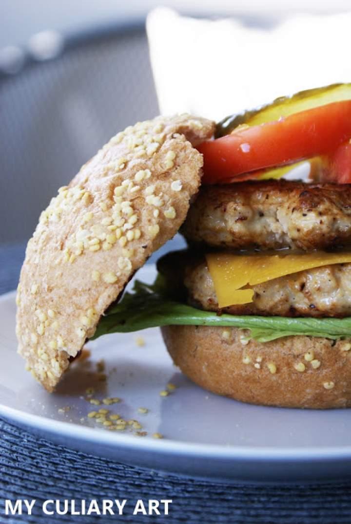 Burgery z indyka (LOW FODMAP, gluten free, lactose free)